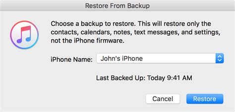 apple iphone restore restore your iphone or ipod touch from a backup