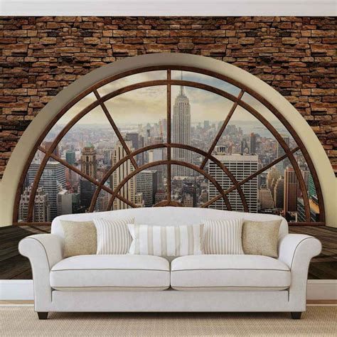 Fototapete Wall by New York City Skyline Window Wall Mural Photo Wallpaper