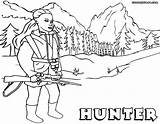 Hunter Coloring Pages Print Hunter1 sketch template