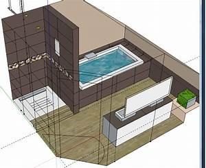 bricolage de l39idee a la realisation salle de bain zen With plan salle de bain douche et baignoire