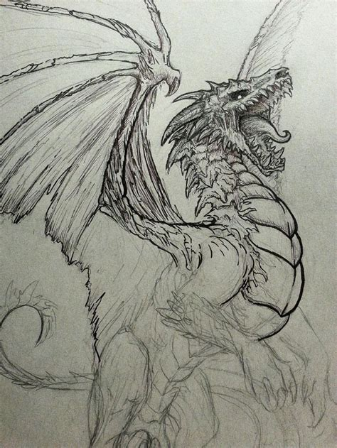 25+ Best Ideas About Cool Dragon Drawings On Pinterest