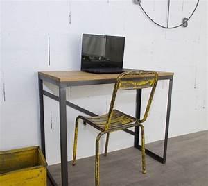Bureau Style Industriel : bureau style industriel sur mesure en ch ne et acier ~ Teatrodelosmanantiales.com Idées de Décoration