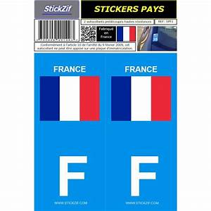 Acheter Plaque Immatriculation : 2 stickers voiture france drapeau feu vert ~ Gottalentnigeria.com Avis de Voitures