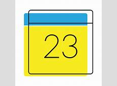 Calendar date icon yellow and blue Transparent PNG & SVG