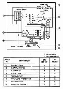 Goldstar R1203h Room Air Conditioner Parts
