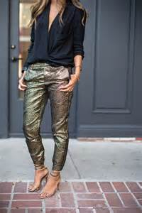 Outfits with Gold Pants