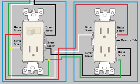 Wiring A Switched Outlet by Electrical How Do I Wire A Duplex Outlet From A Switch