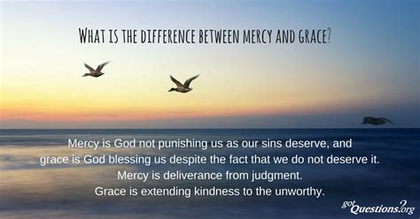 difference  mercy  grace