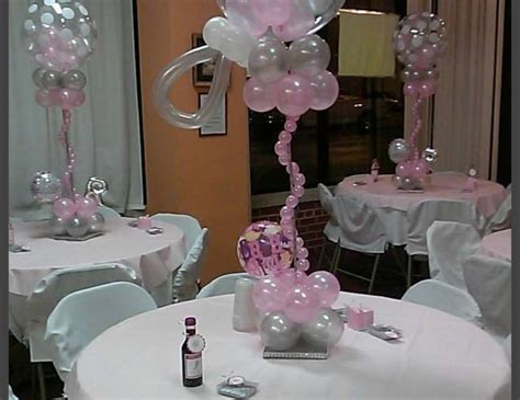baby shower centerpieces with balloons babyshower balloons baby shower quot baby shower balloon rattles centerpieces quot catch my party