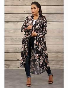 Kimono Femme Long : long floral kimono brentiny paris ~ Dode.kayakingforconservation.com Idées de Décoration