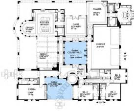 mediterranean floor plans plan 16315md mediterranean villa with two courtyards