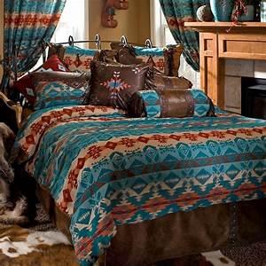 Turquoise, Chamarro, Southwestern, Comforter, Sets