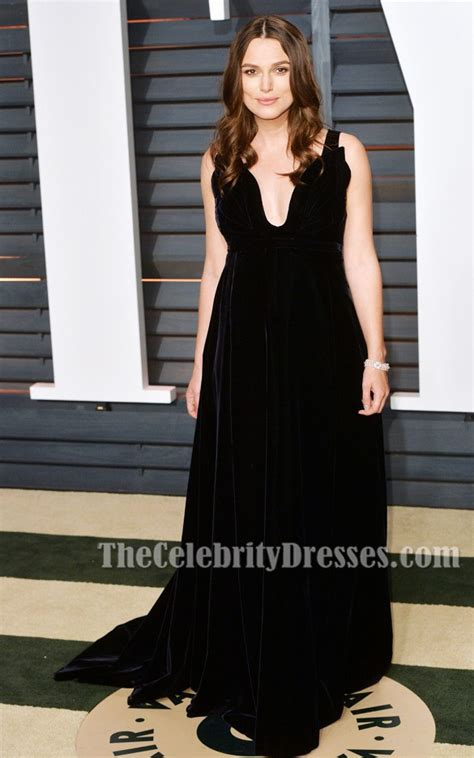 Vanity Fair Keira Knightley by Keira Knightley Black Velvet Evening Dress Vanity Fair