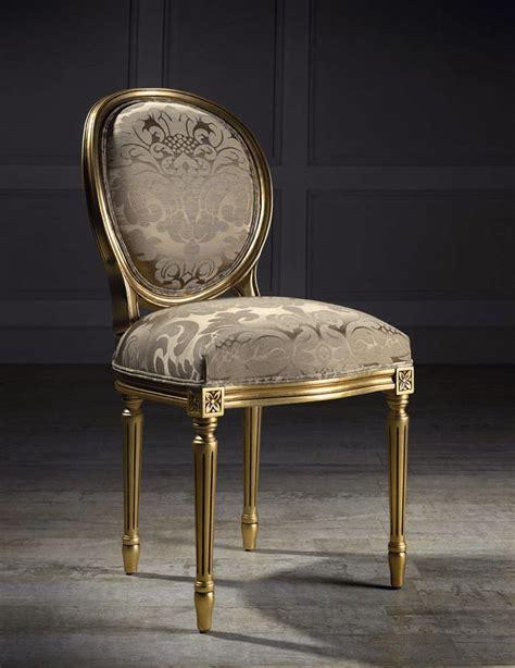 chaise medaillon transparente chaise médaillon de style louis xvi en tissu andrea i