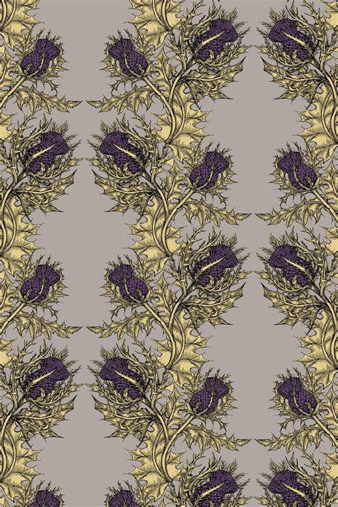 timorous beasties wallcoverings grand thistle wallpaper