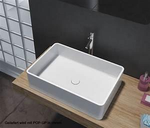 Waschbecken 60 X 30 : aufsatzbecken aufsatz waschbecken rechteck pb2012 design geradlinig 60 x 40 x 15 cm badewelt ~ Markanthonyermac.com Haus und Dekorationen