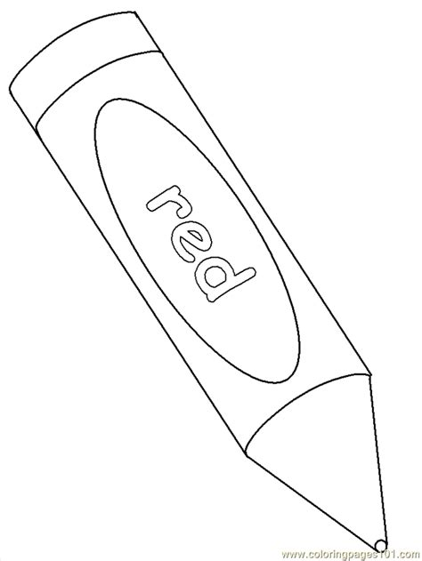 Coloring Crayon by Coloring Pages Crayon Education Gt School Free