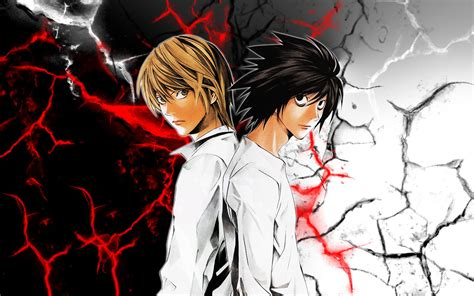 Anime Death Note Light Light Yagami And L Death Note Full Hd Wallpaper And