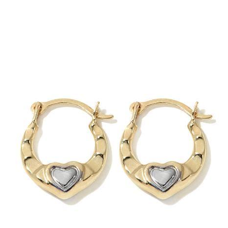 michael anthony jewelry   tone heart hoop earrings