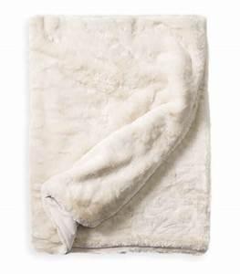 Plaid Fourrure Blanc : plaid fausse fourrure luxe blanc cass 130 x 180 cm ~ Nature-et-papiers.com Idées de Décoration
