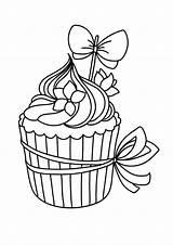 Coloring Cupcakes Cupcake Dibujos Colorear Colorir Skull Adult Pintura Bordado Desenhos Bordar Mano Colouring Uploaded Visitar Lee Infantiles Utensilios Domesticos sketch template