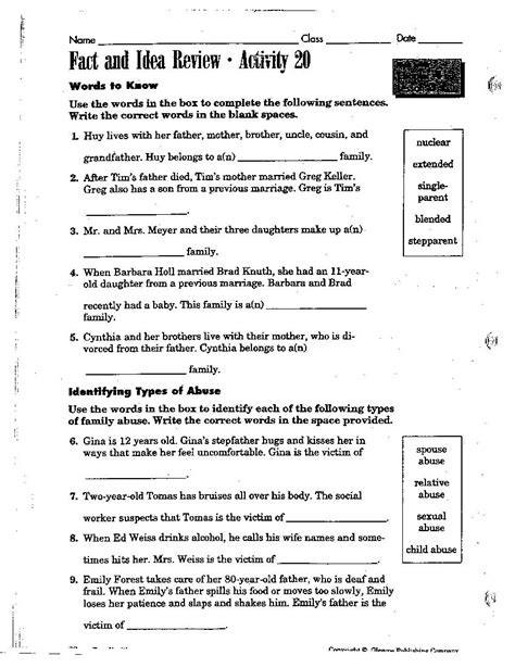 8th grade health worksheets 1000 ideas about health