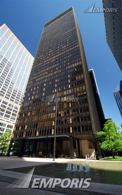 front view seagram building new york city image