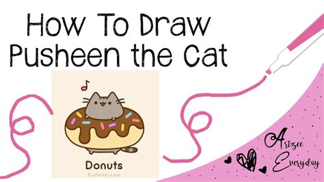 draw pusheen  cat youtube