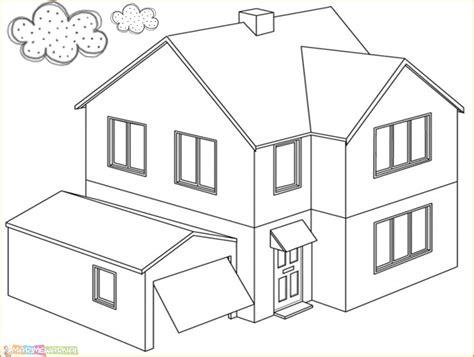 14 mewarnai gambar rumah yang bagus