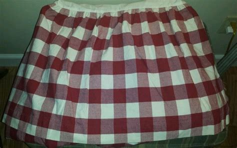 vintage country curtains plaid bed skirt 139 50