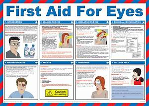 First Aid For Eyes Poster From Safety Sign Supplies