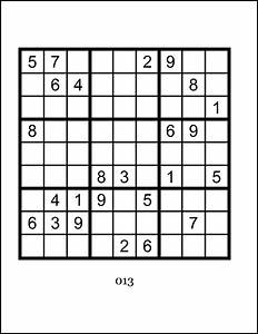 Sudoku Large Print - Hard Level