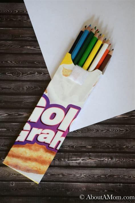 cereal box pencil case   mom