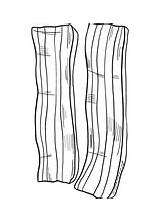 Coloring Meat Bacon sketch template