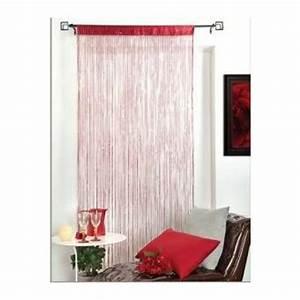 Fil Tringle Rideau : rideau fil spaghetti 140x240 cm finition passe tringle ~ Premium-room.com Idées de Décoration