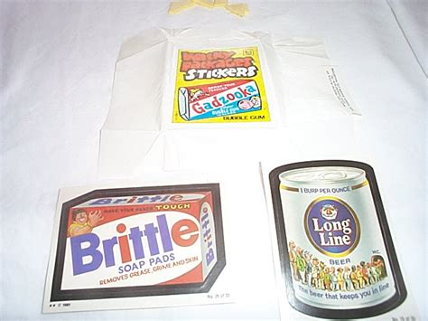 irish test wacky packages 1981 series stickers