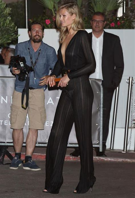 toni garrn flashes  knickers  sheer jumpsuit