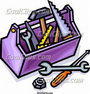 Toolbox with tools Clip Art