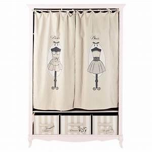 Dressing Maison Du Monde : dressing en bois rose l 130 cm paris mode maisons du monde ~ Nature-et-papiers.com Idées de Décoration