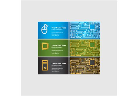 Computer Chip Business Cards