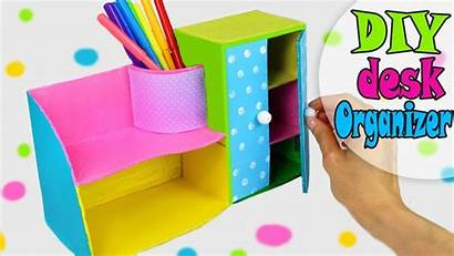 Desk Organizer Diy Cardboard Easy Tutorial Box