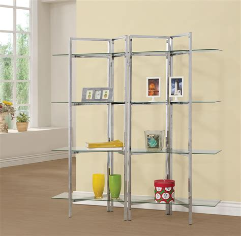 bookcases contemporary bookcase  open glass shelves