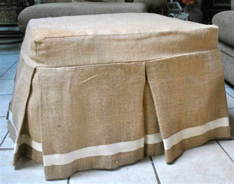 35 Best Images About Ottoman Slipcovers On Pinterest