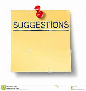 Suggestions List On Yellow Office Note Royalty Free Stock ...