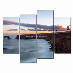 3 Piece Wall Art Painting Portland Bill Lighthouse In