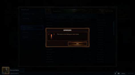 error loading match history bug