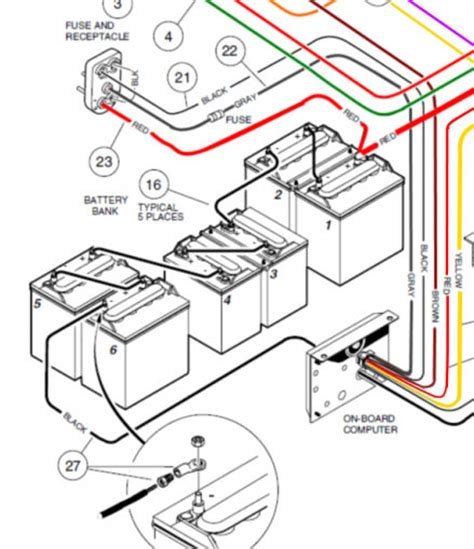 Club Car Golf Cart Diagram by 48 Volt Club Car Wiring Diagram For Wiring Diagram
