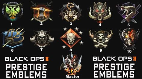 call  duty black ops  prestige emblems prestige