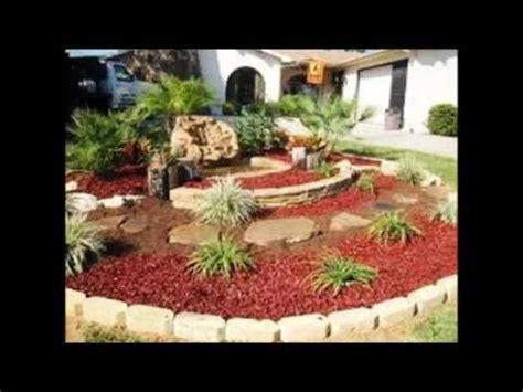 diseno  decoracion de jardines  piedras youtube