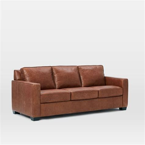 tobacco leather sofa henry 174 leather sofa tobacco west elm 2853